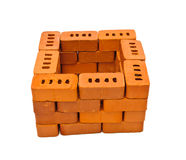 Small bricks for construction Royalty Free Stock Photography