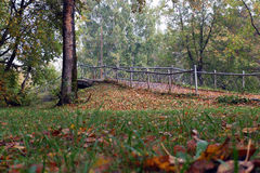 Small bridge in the autumn Park Royalty Free Stock Photography