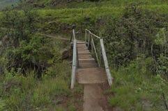 Small bridge of Bushmans river in Giants Castle KwaZulu-Natal nature reserve stock images