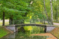Small bridge canal Stock Image
