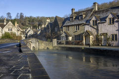 Small bridge in Castle Combe Stock Photos