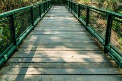 Small bridge in garden Stock Photos