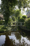 A small bridge in Giethoorn Stock Images