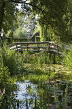 A small bridge in Giethoorn Royalty Free Stock Photography