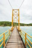 Small bridge in indonesia Royalty Free Stock Photos