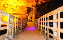 Small bridge inside Khewra salt mine Royalty Free Stock Photos