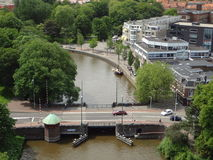 Small bridge in Leeuwarden Stock Photos
