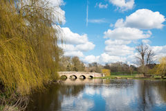 Small bridge over a river. Five Arch Bridge over the river Cray in Sidcup,Kent,UK Royalty Free Stock Image