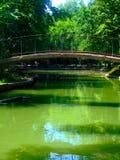 Small bridge over river. A picturesque bridge over a small river Stock Image
