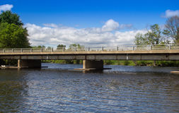 Small bridge over river Royalty Free Stock Photography