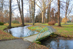 Small Bridge over a rivulet Royalty Free Stock Image