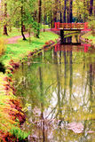 Small bridge in the park Royalty Free Stock Image