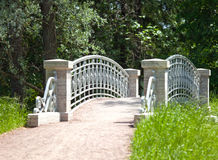 The small  bridge in park Stock Photo