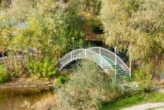 Small Bridge in the Park Royalty Free Stock Photos