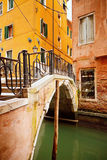 Small bridge in Venice Stock Photography