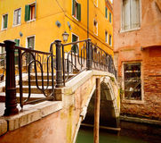 Small bridge in Venice Royalty Free Stock Photo