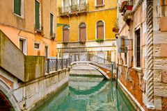 Small bridge in Venice Stock Photo