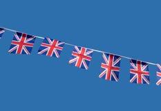 Small British Union Jack celebration flags. Small British Union Jack celebration flags bunting Stock Photography