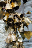 Small bronze bells in Wat Phrathat temple on Doi Suthep, Chiang Royalty Free Stock Photos
