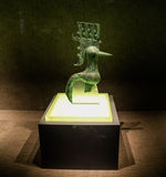 Small bronze bird in sanxingdui museum,sichuan,china Stock Image