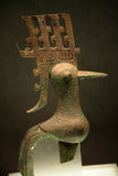 Small Bronze Bird Sanxingdui Sichuan China Stock Image