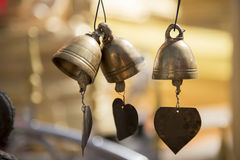 Small bronze buddhist bell at Phra Borommathat temple Tak ,Thailand Royalty Free Stock Photos
