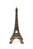 Small bronze figurine of Eifel. Small bronze copy of Eifel Tower figurine  isolated on white background Royalty Free Stock Images