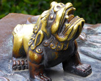 Small bronze lion Stock Photography