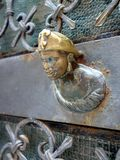 Small Bronze Military Figure,  Venice,  Italy Stock Image