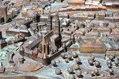 small bronze model of  Zagreb, Croatia. Royalty Free Stock Photos