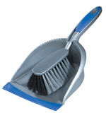 Small broom and dustpan. Isolated on white Stock Images