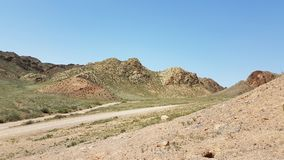 Charyn Canyon in Kasachstan stock images