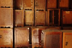 Small brown cabinet Stock Photography