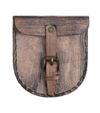 Small brown leather bag Stock Image
