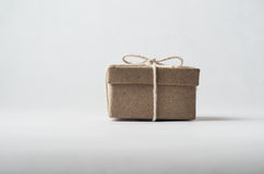 Small Brown Package Tied with String Stock Photo