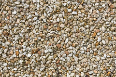 Small brown and yellow pebbles Royalty Free Stock Photo