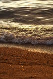 Small bubbling wave at sunset Royalty Free Stock Image