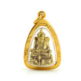 Small buddha image used as amulets on white background Stock Photos