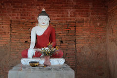 Small Buddha statue in a Bagan pagoda Stock Images