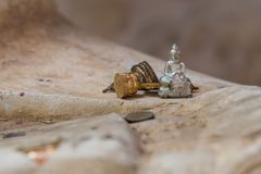 Small Buddha statue in Wat Puttaisawan temple, Ayutthaya, Thaila Stock Photo