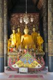 Small buddha Statues and a shrine in a Temple, stock photography