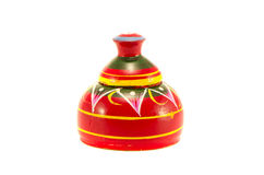 Small buddhist stupa wooden souvenir from asia Stock Photo