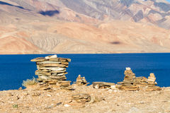 Small Buddhist stupas, collected in the form of a stack of zen s Royalty Free Stock Photos