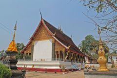 A small Buddhist temple in Laos Stock Photo