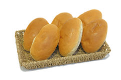 Budget breads on tray Royalty Free Stock Photography