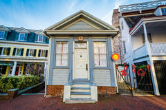 Small building along State Circle, in Annapolis, Maryland. Royalty Free Stock Photo