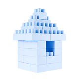 Small building made of toy bricks Royalty Free Stock Photos