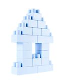 Small building made of toy bricks Royalty Free Stock Images
