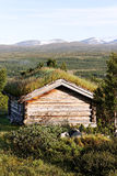 Small building in Norway mountain. Stock Photo