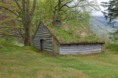 Small building in Norway mountain Royalty Free Stock Images